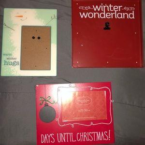 Christmas picture frames bundle